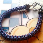 Chenille Stitch Rope Bracelet workshop March 3 or April 22, 2015 at Dancing Beads in Medford, Oregon.