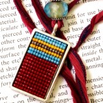 Square Stitch Pendant at Dancing Beads