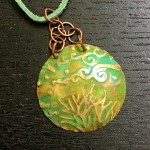 Embossed and Patina Pendant